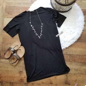 Joan Vass T Shirt Dress Black 8 / 10 Size 1